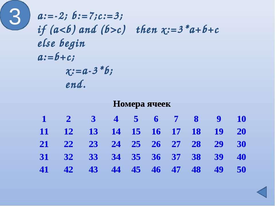 3 a:=-2; b:=7;c:=3; if (ac) then x:=3*a+b+c else begin a:=b+c; x:=a-3*b; en...