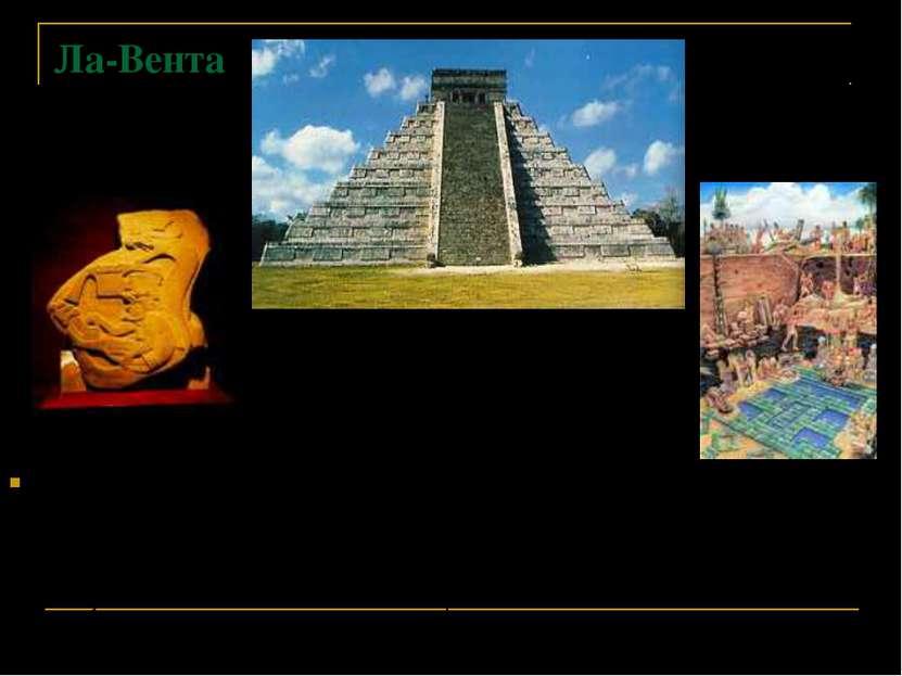Ла-Вента Вторым ритуальным центром ольмеков был Ла-Вента. В городе был распол...