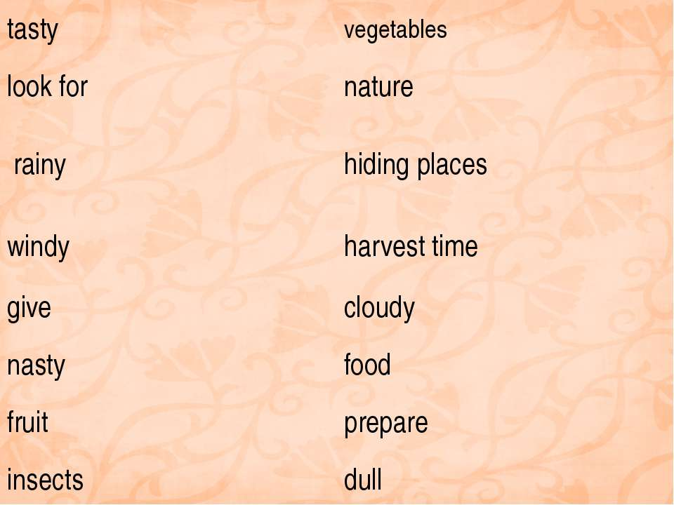 tasty vegetables look for nature rainy hiding places windy harvest time give ...