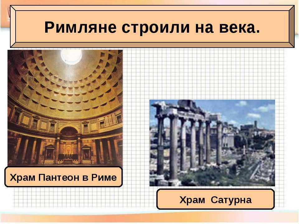 Римляне строили на века. Храм Пантеон в Риме Храм Сатурна