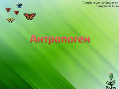 Презентация по биологии Щадриной Анны