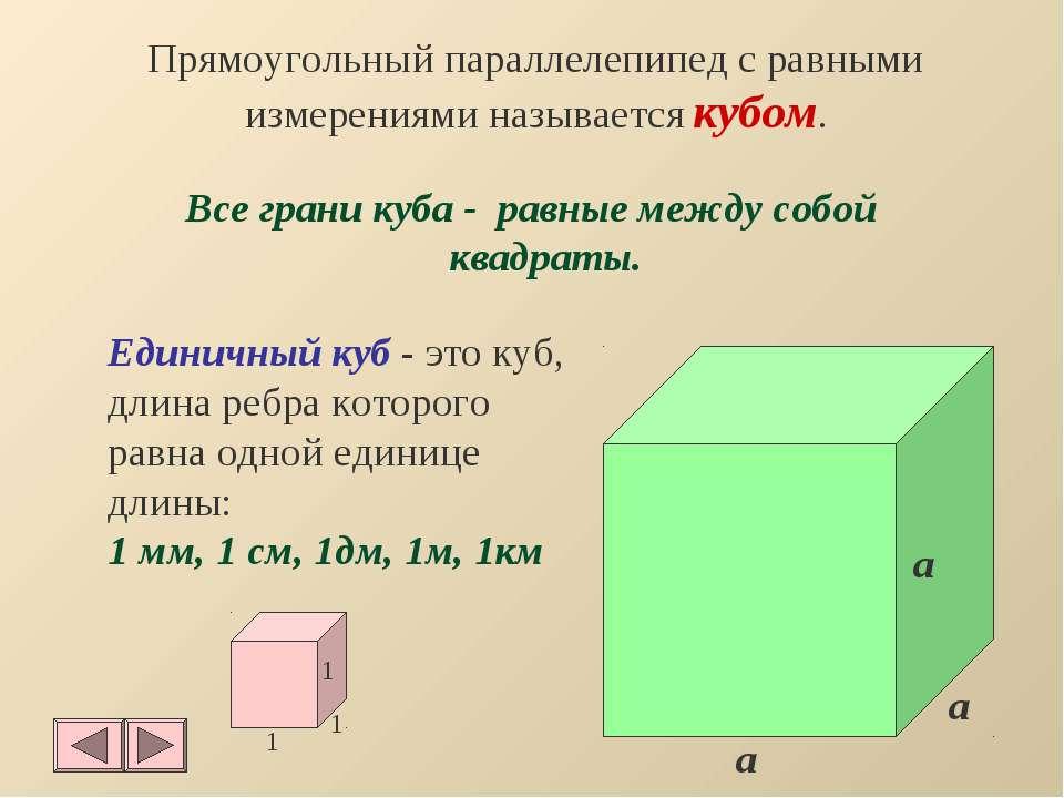 Прямоугольный параллелепипед с равными измерениями называется кубом. Все гран...