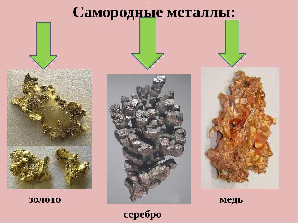 . Самородные металлы: золото медь серебро
