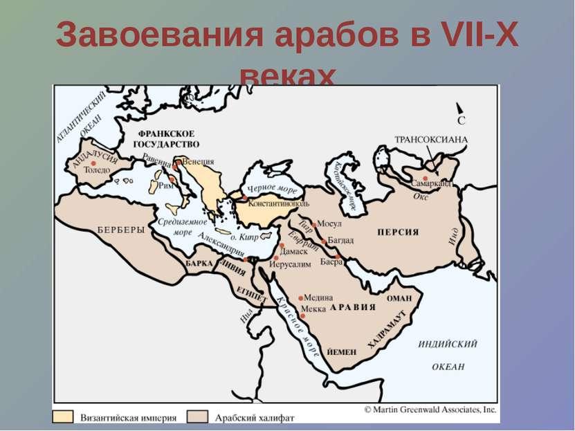 Завоевания арабов в VII-X веках