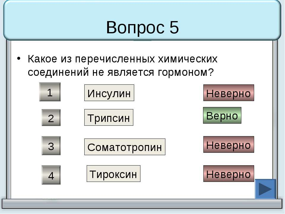 Вопрос 5 Какое из перечисленных химических соединений не является гормоном? И...