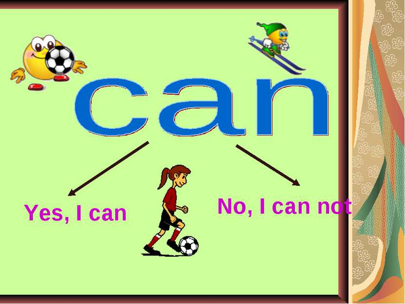 Yes, I can No, I can not