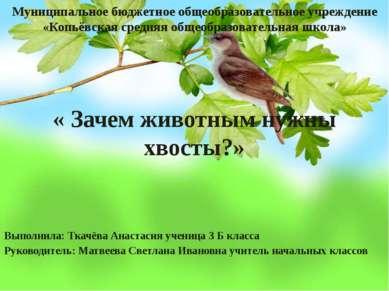 Муниципальное бюджетное общеобразовательное учреждение «Копьёвская средняя об...