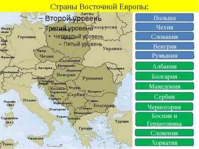 Страны Восточной Европы: Польша Чехия Словакия Венгрия Румыния Албания Болгар...