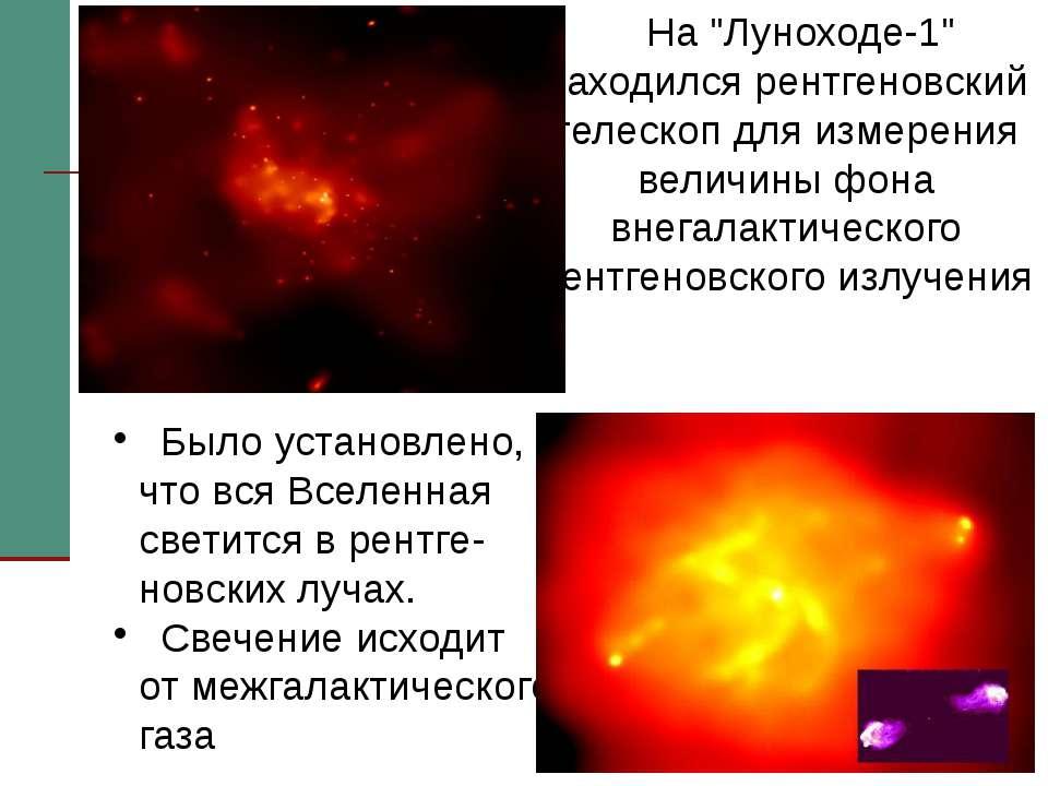 """На """"Луноходе-1"""" находился рентгеновский телескоп для измерения величины фона ..."""
