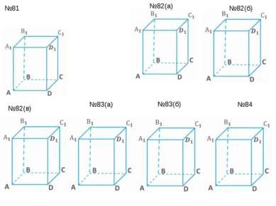№81 №82(а) №83(б) №83(а) №84 №82(б) №82(в)