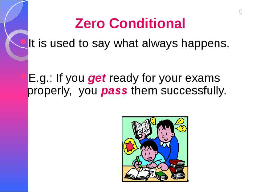 Zero Conditional It is used to say what always happens. E.g.: If you get read...