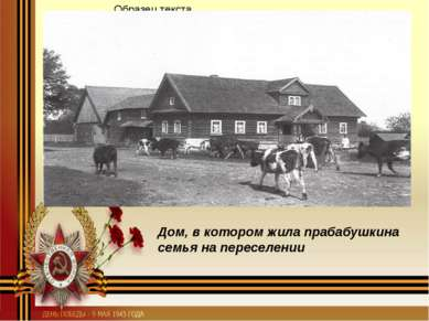 Дом, в котором жила прабабушкина семья на переселении