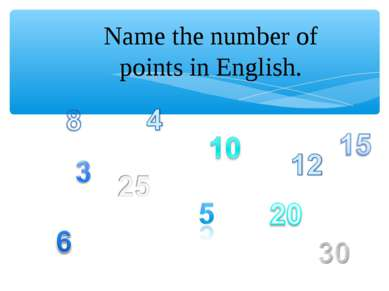 Name the number of points in English.