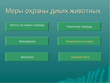 Меры охраны диких животных Красная книга Заповедники Национальные парки Закон...