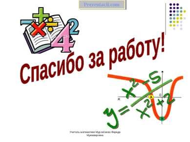 Учитель математики Мурзабаева Фарида Мужавировна  Учитель математики Мурзабае...
