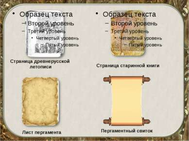Страница древнерусской летописи Страница старинной книги Лист пергамента Перг...