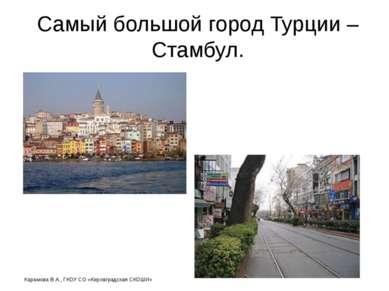 Самый большой город Турции – Стамбул. Карамова В.А., ГКОУ СО «Кировградская С...