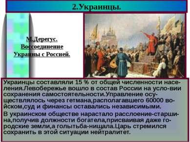 Украинцы составляли 15 % от общей численности насе-ления.Левобережье вошло в ...