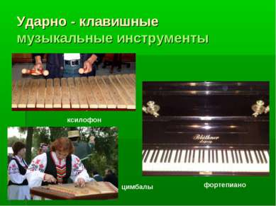 Ударно - клавишные музыкальные инструменты фортепиано ксилофон цимбалы