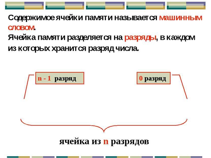 Единицы измерения объема информации Количество информации, хранящейся в ЭВМ, ...