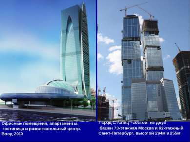 Комплекс Imperia Tower Офисные помещения, апартаменты, гостиница и развлекате...