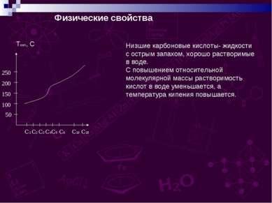 Физические свойства Tкип, С 50 100 150 200 250 С1 С2 С3 С4С5 С6 С16 С18 Низши...