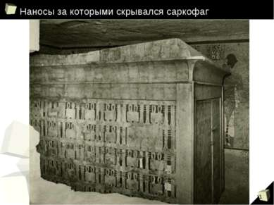 Наносы за которыми скрывался саркофаг *