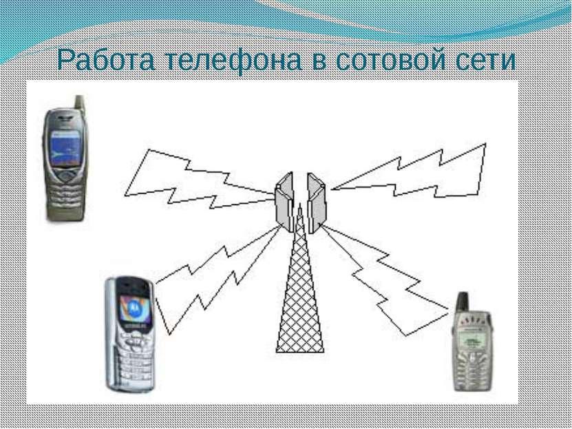 Работа телефона в сотовой сети