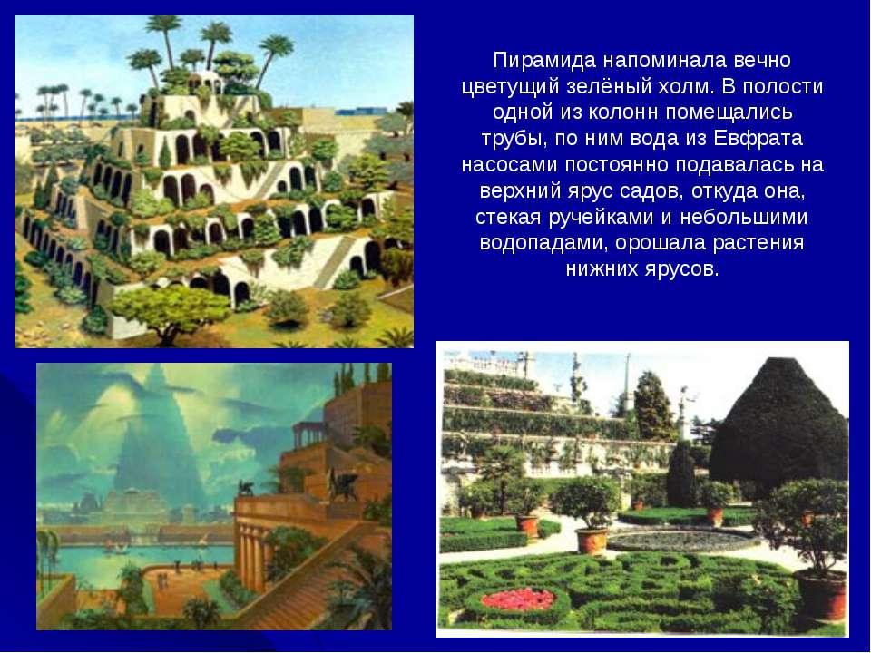 Пирамида напоминала вечно цветущий зелёный холм. В полости одной из колонн по...