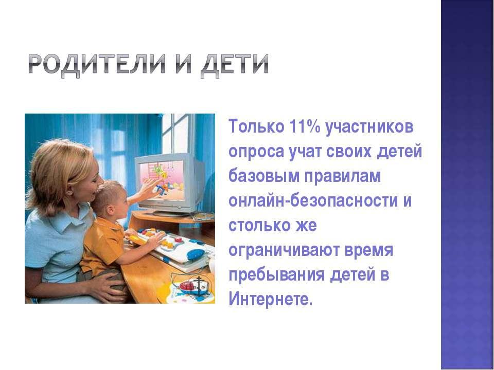 Только 11% участников опроса учат своих детей базовым правилам онлайн-безопас...