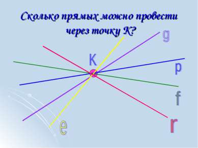 Сколько прямых можно провести через точку К?