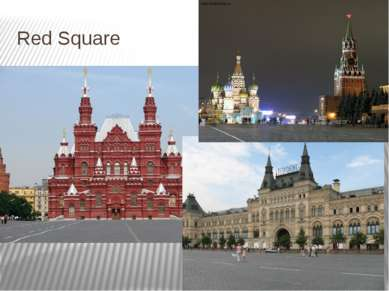 Red Square Russian name: Красная площадь. Saint Basil's Cathedral, the Moscow...