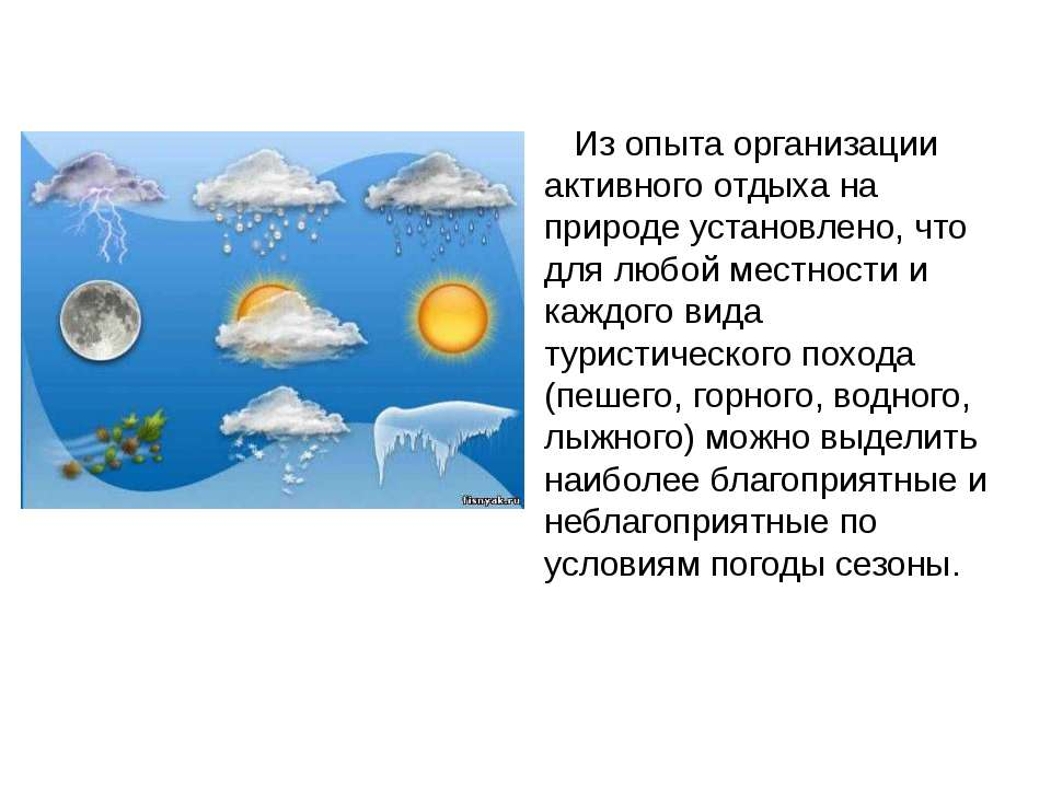 Из опыта организации активного отдыха на природе установлено, что для любой м...