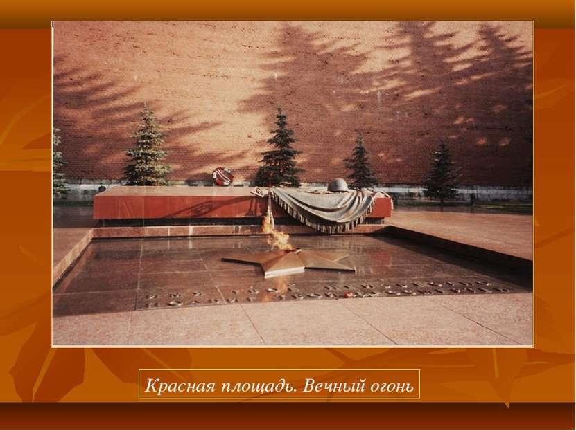 Красная площадь. Вечный огонь