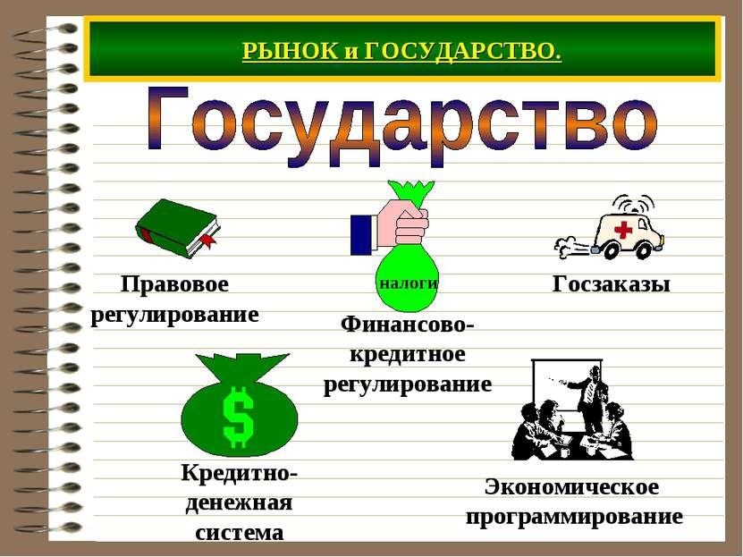 РЫНОК и ГОСУДАРСТВО.