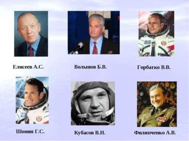 Волынов Б.В. Горбатко В.В. Елисеев А.С. Кубасов В.Н. Филипченко А.В. Шонин Г.С.