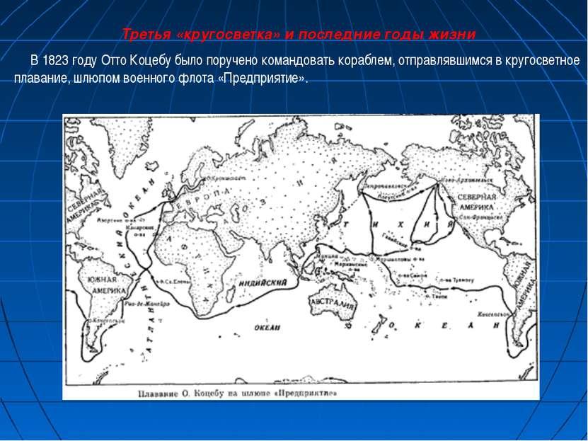 Третья «кругосветка» и последние годы жизни В 1823 году Отто Коцебу было пору...