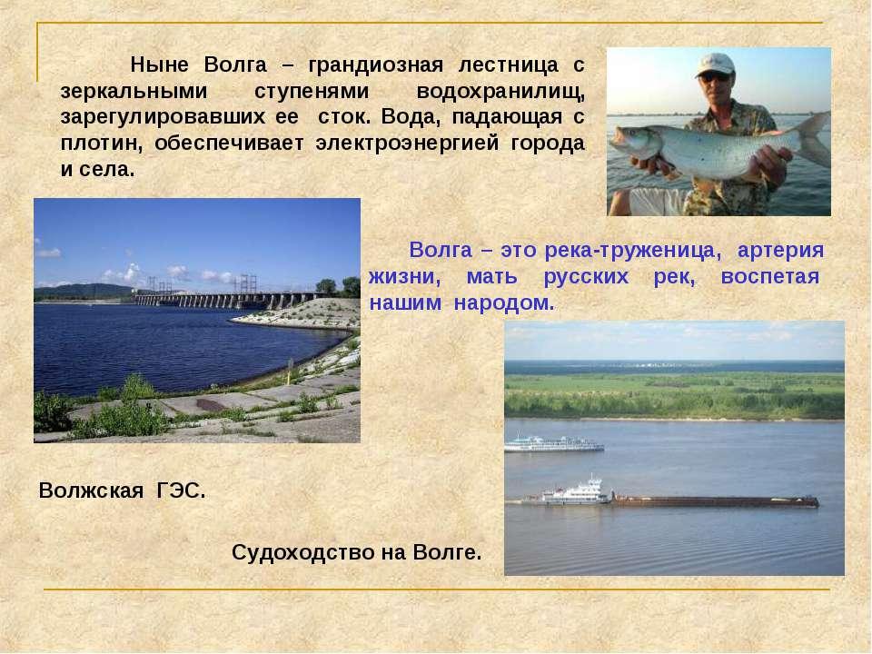 Ныне Волга – грандиозная лестница с зеркальными ступенями водохранилищ, зарег...