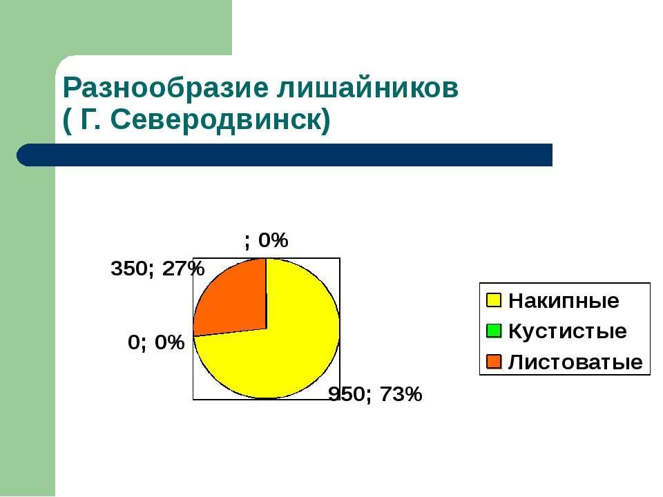 Разнообразие лишайников ( Г. Северодвинск)