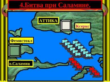 4.Битва при Саламине. АТТИКА Ксеркс о.Саламин Фемистокл