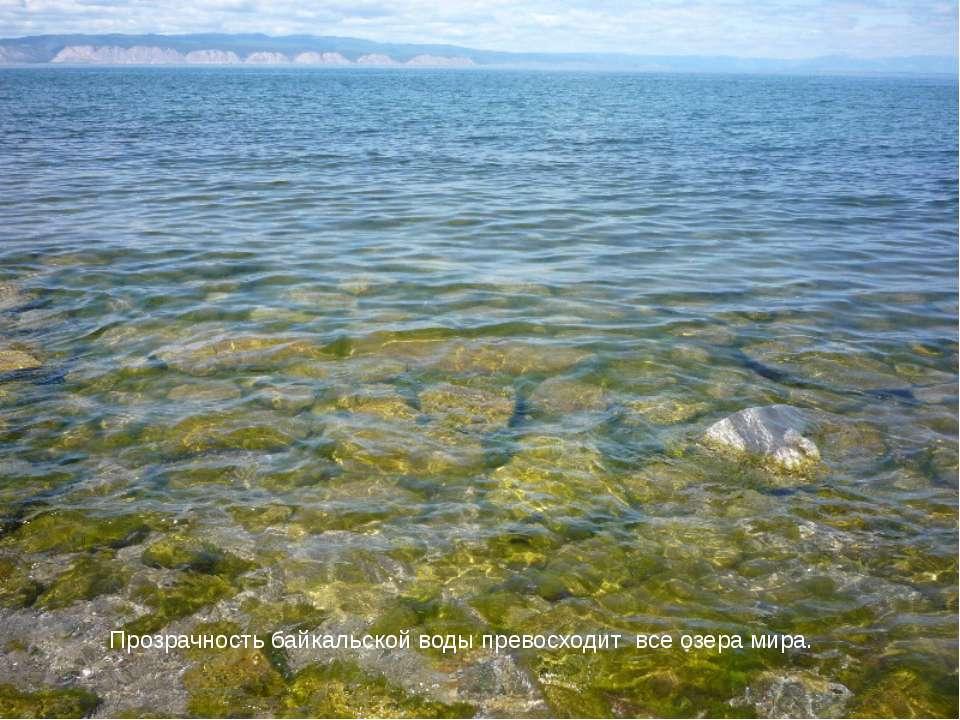 Прозрачность байкальской воды превосходит все озера мира.