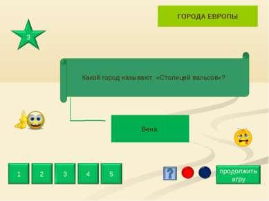 Вена ГОРОДА ЕВРОПЫ Какой город называют «Столицей вальсов»?