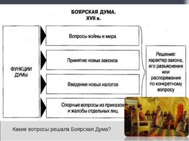 Какие вопросы решала Боярская Дума?