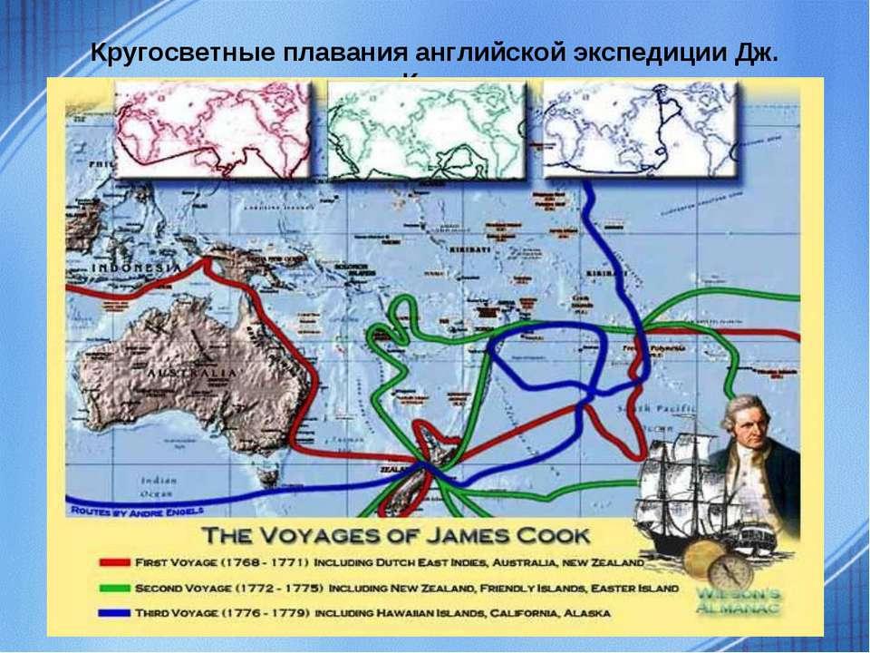 Кругосветные плавания английской экспедиции Дж. Кука.