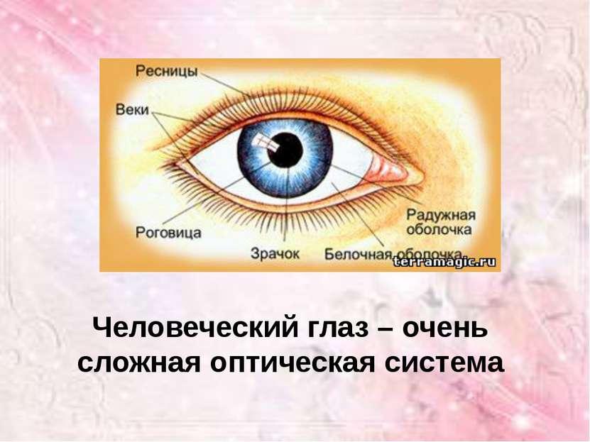 Человеческий глаз – очень сложная оптическая система