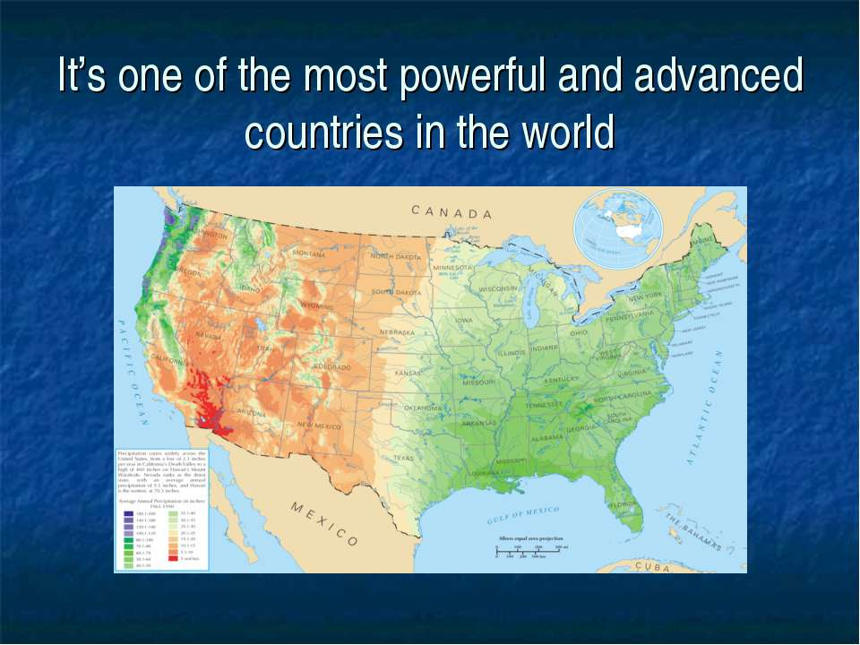 It's one of the most powerful and advanced countries in the world