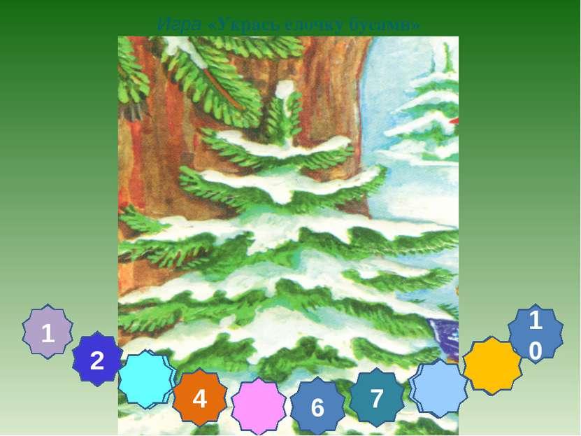8 9 5 3 Игра «Укрась елочку бусами» 2 4 6 7 10 1
