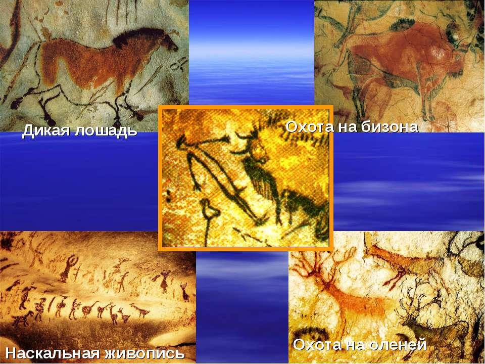 Дикая лошадь Охота на бизона Наскальная живопись Охота на оленей