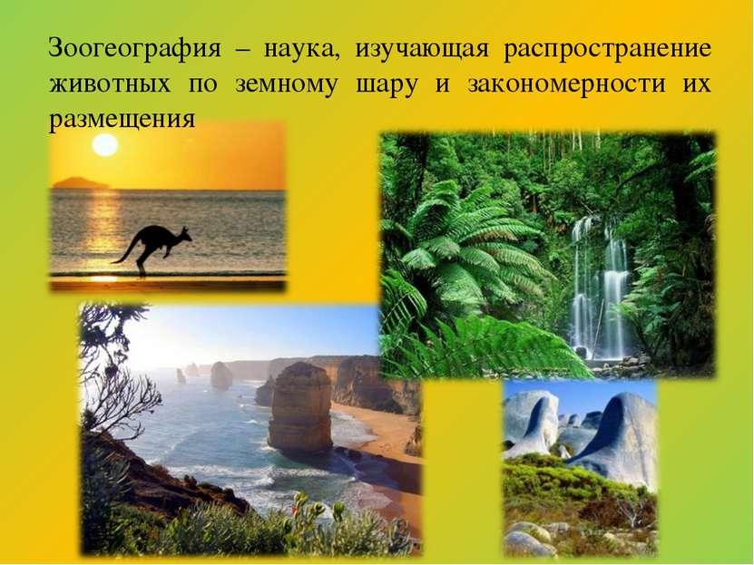 Зоогеография – наука, изучающая распространение животных по земному шару и за...