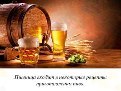 Пшеница входит в некоторые рецепты приготовления пива.